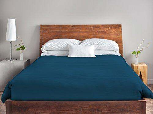 Ebydesign Solid Duvet Cover, King, Moroccan Blue
