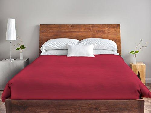 Ebydesign Solid Duvet Cover, Queen, American Red