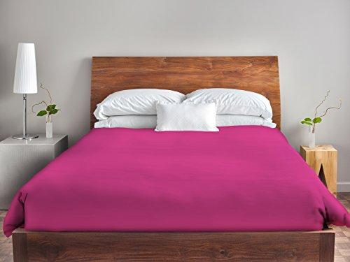 Ebydesign Solid Duvet Cover, Queen, Fuchsia