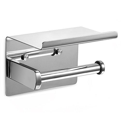 Ecooe Toilet Paper Roll Holder Stainless Steel Wall-mounted with Spacious Shelf for Kitchen and Bathroom Paper Roll Holder High-quality Kitchen Roll Holder