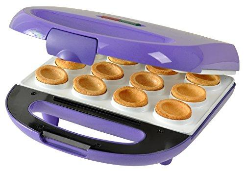 Efbe-Schott Waffle Maker with Walnut-Shaped Mould, Non-Stick Ceramic Plates, 700 W, Purple, SC ZN 1.2