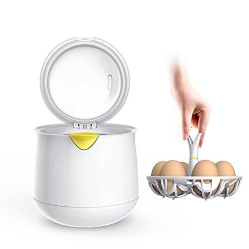 Egg Steamer Electric 67°C low temperature boiled egg machine 6-Eggs capacity Egg Boiler White, Egg Cooker with Water Level Indicator Exquisite Packaging Gift Excellent Choice