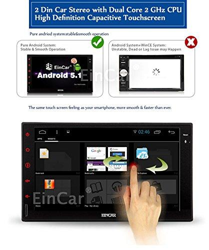 EinCar Android 5 1 OS GPS Navigation Capacitive Touch Screen