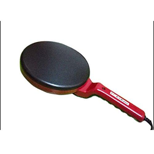Electric Crepe Maker Pizza Machine Pancake Machine Baking Pan Cake Machine Non-Stick Griddle Kitchen Cooking Tools,Red