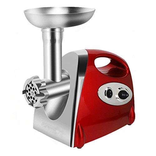 Electric Meat Grinder Mincer Sausage Maker Stainless Steel High Power 2800 Watt Copper Motor Red