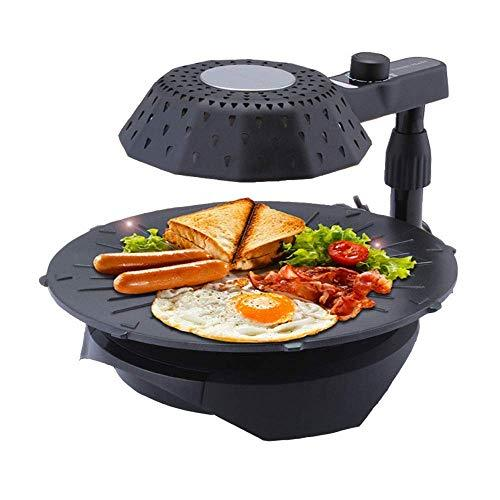 Electric Raclette Grill 1300W Smokeless Bbq Tenderloin Chicken Korean Style With Removable Grease Collection Container 5 Gear Adjustable Non-Stick Pan Indoor Barbecue Table