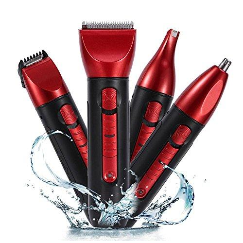 Electric Shaver Set, 5 IN 1 Men's Electric Shaver Rechargeable Hair Clipper Trimmer Barbering Machine Body Hair Beard Nose Hair Clipper Haircut Trimmer Set