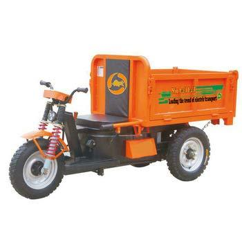 Electric Tricycle 20-60Ah Rechargeable Battery Powered cargo (Orange)