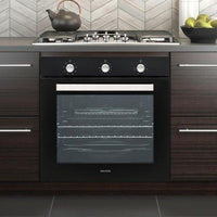ElectrIQ Extra Large Capacity 73 litre Built-in Fan-Assisted Electric Single Oven - Supplied with a plug