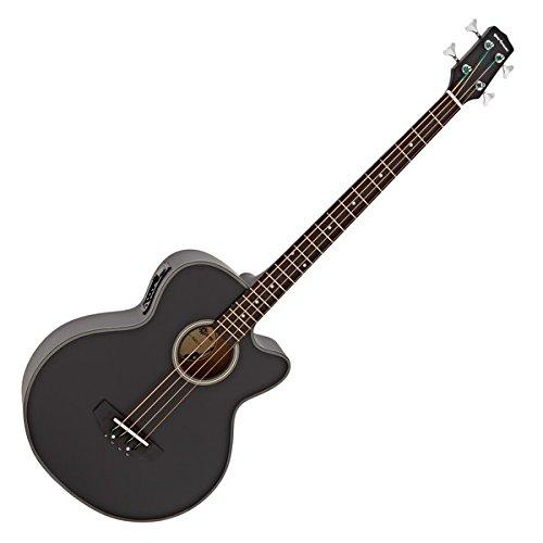 Electro Acoustic Bass Guitar by Gear4music Black
