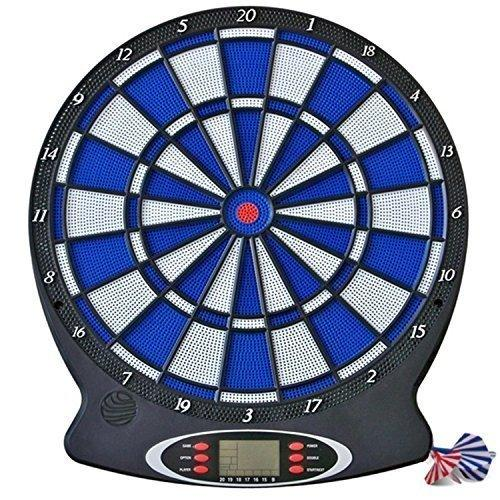 ELECTRONIC HANGING DARTBOARD INTERACTIVE LCD SCORING BOARD GAME WITH VOICE & SOUND DARTS SET