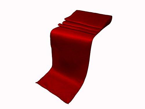 "Elina Home Pack of 40 12"" x 108"" Satin Table Runner, Apple Red"