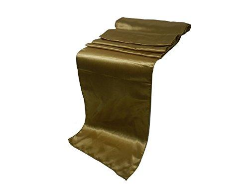 "Elina Home Pack of 40 12"" x 108"" Satin Table Runner, Gold"