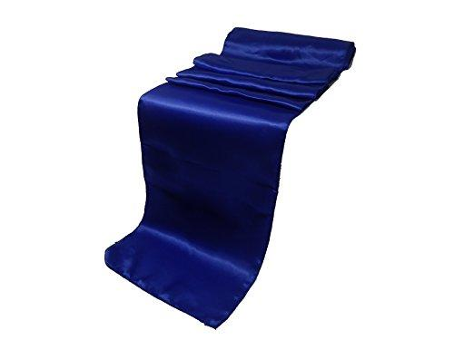 "Elina Home Pack of 40 12"" x 108"" Satin Table Runner, Royal Blue"