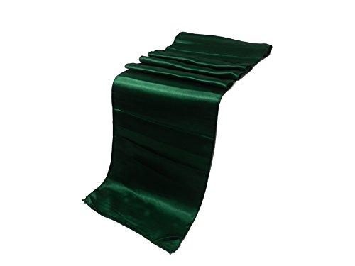 "Elina Home Pack of 50 12"" x 108"" Satin Table Runner, Green"