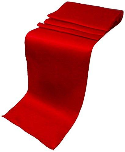"Elina Home Pack of 50 12"" x 108"" Satin Table Runner, Red"
