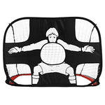 ELLANM Football Gate, Foldable Portable Football Training Target Net (110 X 80 X 80Cm), Durable Polyester Mesh Frame, Easy Storage Perfect For Indoor & Outdoor Children Sports Practice And Games