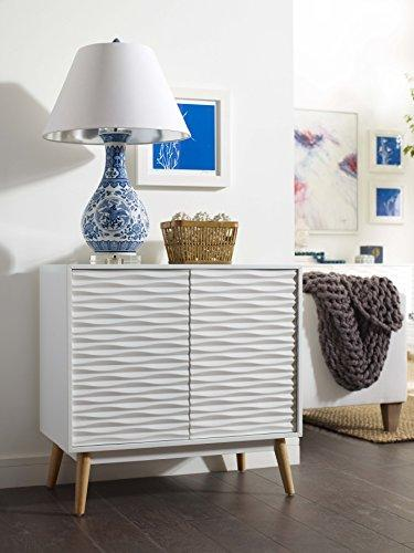Elle Decor Pine, White, Small Sideboard