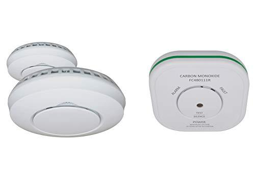 Elro Security Kit: 2 x Smoke Detector + Carbon Monoxide Detector for Smart Home Connects System