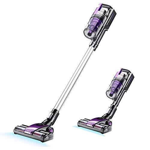 Eonego VC-168 2 in 1 Cordless Stick Vacuum Cleaner, Lightweight Hand Held Vacuum with High Power for Home Hardwood Floor, Purple