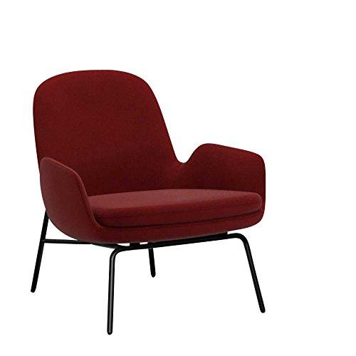 Era Lounge Armchair steel frame dark red fabric Breeze Fusion 4401/frame steel black laquered/H x W x D: 77 x 72 x 72cm