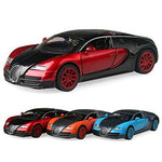 ERQINGX Model Decoration So Cool Alloy Cars 1:32 Veyron Super Car Pull Back Diecast Model Toy With Light Flashing Simulation Sound Gift Toy For Boys Kids