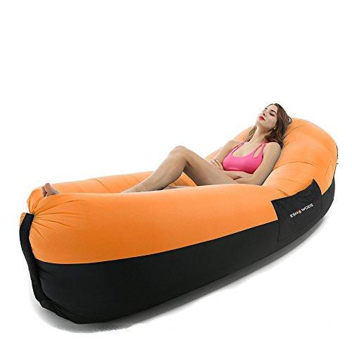 ESHOWODS Inflatable Air Lounger Sleeping Bed Waterproof Air Sofa Chair For Camping, Beach, swiming pool