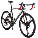 Eurobike Road Bike XC550 Bike 21Speed Gears Road Bicycle Dual Disc Brake Bicycle (54cm 3-Spoke wheel)