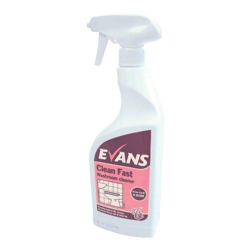 Evans Vanodine Clean Fast Heavy Duty Washroom Cleaner 750ml RTU Trigger Spray - Case of 6