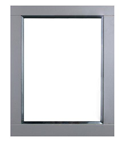 Eviva EVMR412-24X30-GR Aberdeen 24 inch Grey Framed Bathroom Wall Mirror Combination