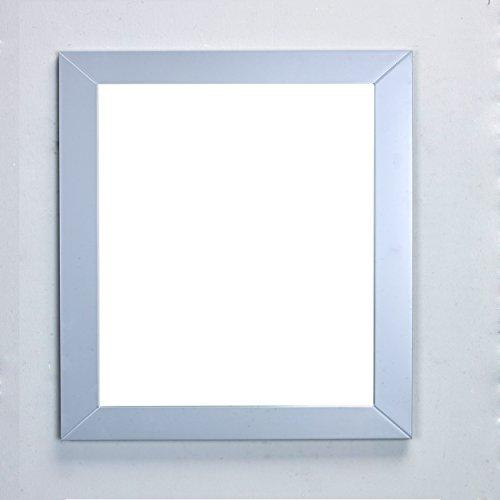 Eviva EVMR514-30X30-GR New York Bathroom Vanity Mirror Full Frame Grey 30X31 Wall Mount Combination