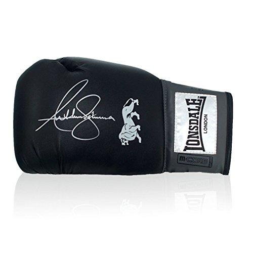 Exclusive Memorabilia Anthony Joshua Signed Black Boxing Glove