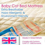 Extra Breathable Baby Cotbed Mattress Different Sizes Toddler Bed Mattress (120 x 60 x 13 cm)