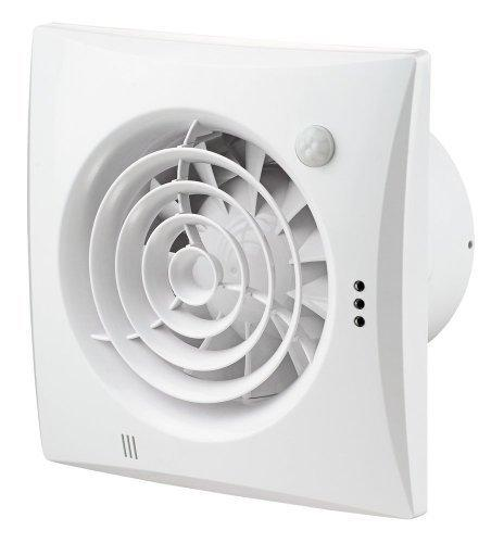Extractor fan Quiet 100mm, with ball-bearing motor and motion detector (PIR)