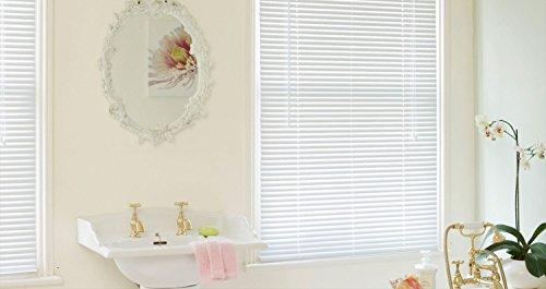 eXtreme® Aluminium Venetian Blind White - Very High Quality 25mm Wide Slat - Made To Your Own Sizes - Just Order & E-Mail Your Sizes! (600mm width x 1800mm height)