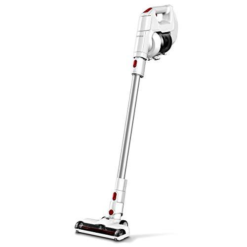 EYUGLE Cordless Vacuum Cleaner, 130W Powerful Suction, 2-in-1 Stick and Handheld Vacuum Cleaner with 2200mAh Detachable Battery, HEPA Filtration and Wall Mount for Hard Floor/Carpet/Stair/Car