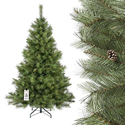 Pvc Christmas Trees.Fairytrees Artificial Christmas Tree Skandinavian Fir Pvc Material Real Cones Metal Stand 8 2ft 250cm Ft16 250