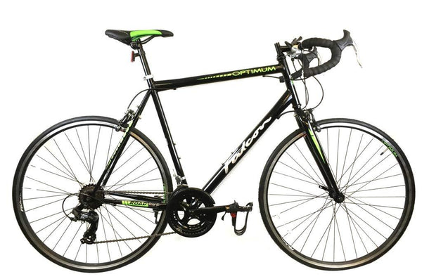 Falcon Optimum Mens Road Racing Bike - Black/Green (56cm)