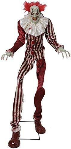 Fancy Me 2.1m (7ft) Lights Sound Motion Undead Clown Walking Talking Animated TV Book Film Horror Scary Halloween Party Decoration Prop