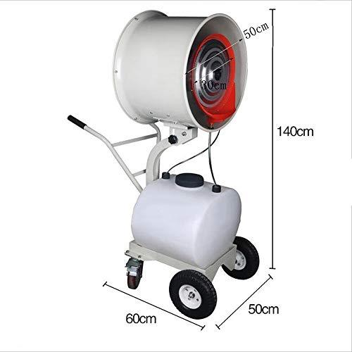 FANS NAN liang Outdoor swing spray Atomized mobile factory dust humidifier -260W/350W Cool breeze (Size : 260W (50CM))