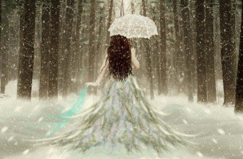 "FANTASY: ANGEL IN Snow Stunning Gallery Framed Canvas Art Poster Print Modern Art Decor Ready To Hang On Your Wall 30"" x 20"" Comes Matching Mouse Mat"