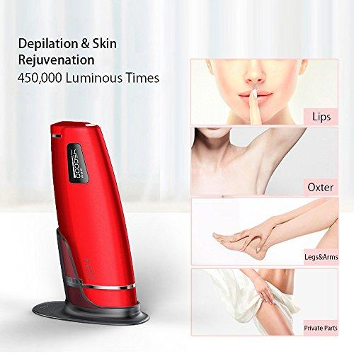 FASÏZ IPL Hair Removal Device for Body, Face, Bikini & Underarms, 5 Level  Rating, Low Noise, High Efficiency (RED)