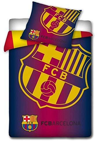 FC Barcelona Yellow Crest Single Duvet Cover and Pillowcase Set