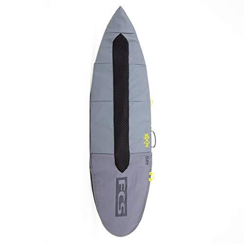 FCS 3DxFit Day Fun Board Surfboard Bag Cool Grey 5'6""