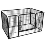 FEANDREA Puppy Playpen, Dog Enclosure, Pet Exercise Panels, Black PPK04BK