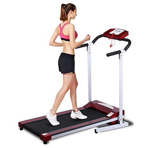 Feckg New Ancheer Red Mini Folding Electric Running Training Fitness Machine Treadmill Home Office EU Plug Treadmills