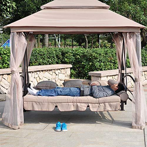FEFEFEF Outdoor Hammock Garden Terrace Swing Chair 3 Swing Hammock Canopy Outdoor Buffer Bench Bed