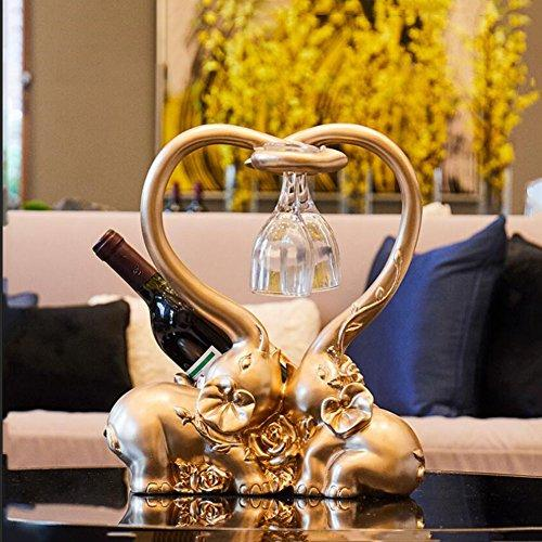 Fei Fei Wine Holder Wine Rack Wine Bottle Holder Creative And Practical European Style Living Room Upscale Home Decorations Wine Cabinet Red Wine Rack Wedding Gift (Color : Gold models)