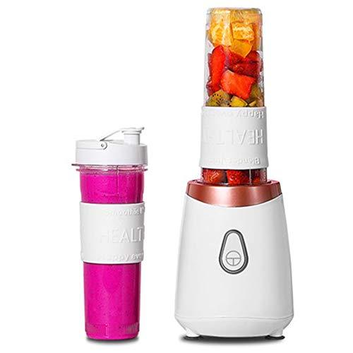 FENG&HE 200w Personal Blender Smoothie Milkshake Maker - Mini Electric Travel Blender For Outdoor, Travel, Office With Easy To Clean BPA Free Tritan Sports Bottles & Leak-Proof Lids