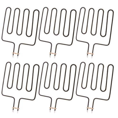 Fenteer 6pcs Sauna Electric Heat Tube Sauna Straight Heating Element Heater Unit For SCA 2000W
